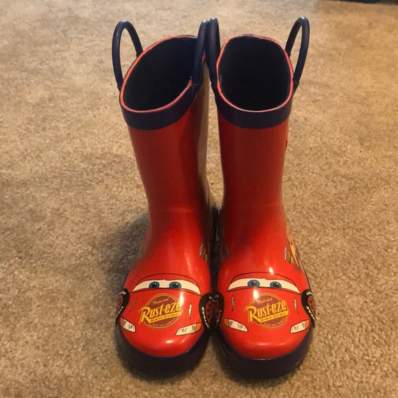 Disney Other - Lightning McQueen rain boots size 10